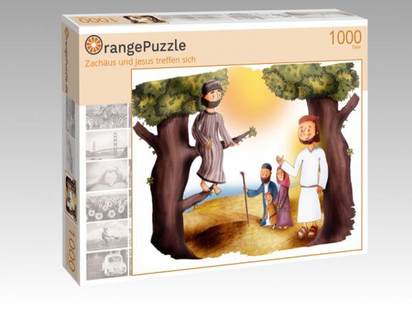 """Puzzle Motiv """"Zachäus und Jesus treffen sich"""" - Puzzle-Schachtel zu 1000 Teile Puzzle"""