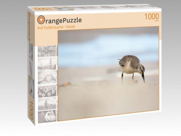 "Puzzle Motiv ""Auf Futtersuche - Knutt"" - Puzzle-Schachtel zu 1000 Teile Puzzle"