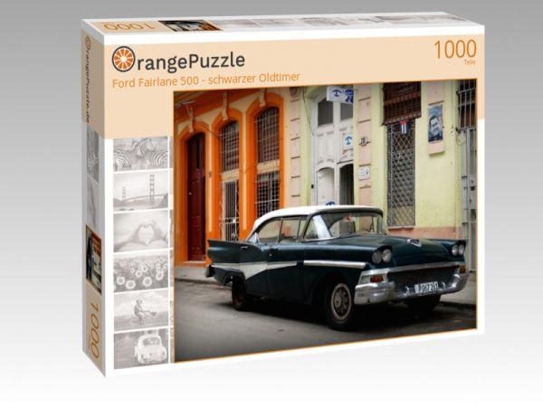 """Puzzle Motiv """"Ford Fairlane 500 - schwarzer Oldtimer"""" - Puzzle-Schachtel zu 1000 Teile Puzzle"""