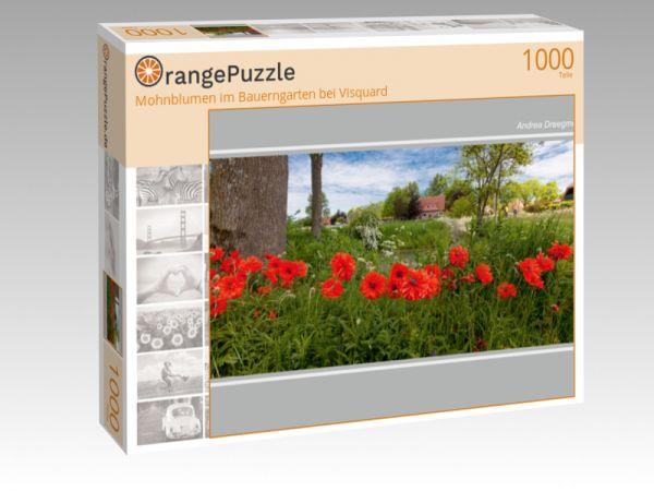 """Puzzle Motiv """"Mohnblumen im Bauerngarten bei Visquard"""" - Puzzle-Schachtel zu 1000 Teile Puzzle"""