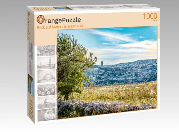 "Puzzle Motiv ""Blick auf Matera in Basilikata"" - Puzzle-Schachtel zu 1000 Teile Puzzle"