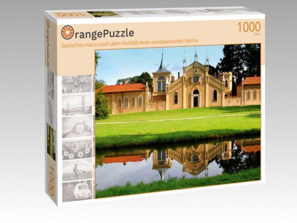 """Puzzle Motiv """"Gotisches Haus nach dem Vorbild einer venezianischen Kirche"""" - Puzzle-Schachtel zu 1000 Teile Puzzle"""