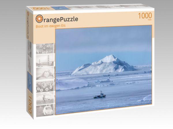 "Puzzle Motiv ""Boot im ewigen Eis"" - Puzzle-Schachtel zu 1000 Teile Puzzle"