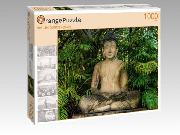 """Puzzle Motiv """"vor der Silberpagode"""" - Puzzle-Schachtel zu 1000 Teile Puzzle"""