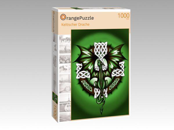 "Puzzle Motiv ""Keltischer Drache"" - Puzzle-Schachtel zu 1000 Teile Puzzle"