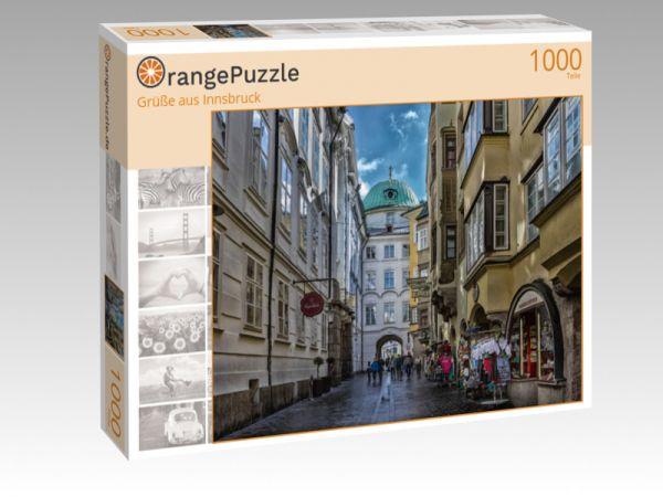 """Puzzle Motiv """"Grüße aus Innsbruck"""" - Puzzle-Schachtel zu 1000 Teile Puzzle"""