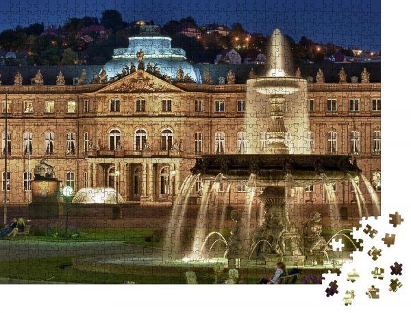 """Puzzle-Motiv """"Brunnen im """"Neuen Schloss"""" Stuttgart, Deutschland"""" - Puzzle-Schachtel zu 1000 Teile Puzzle"""