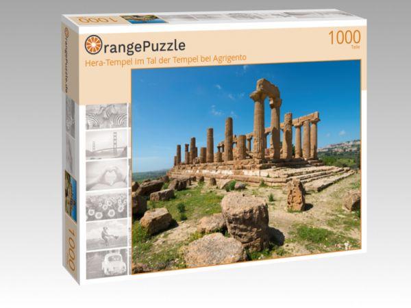 "Puzzle Motiv ""Hera-Tempel im Tal der Tempel bei Agrigento"" - Puzzle-Schachtel zu 1000 Teile Puzzle"