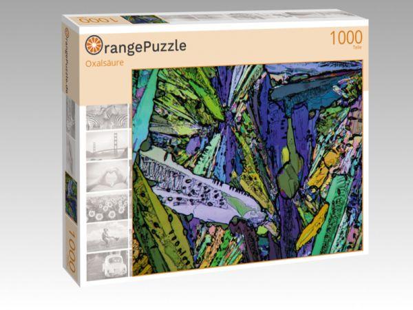 """Puzzle Motiv """"Oxalsäure"""" - Puzzle-Schachtel zu 1000 Teile Puzzle"""