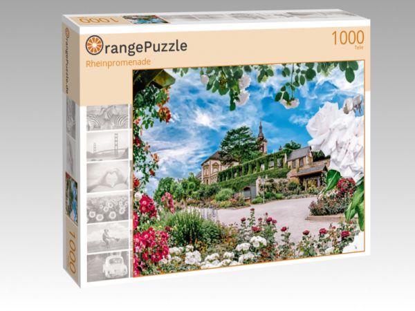 """Puzzle Motiv """"Rheinpromenade"""" - Puzzle-Schachtel zu 1000 Teile Puzzle"""
