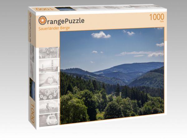 """Puzzle Motiv """"Sauerländer Berge"""" - Puzzle-Schachtel zu 1000 Teile Puzzle"""