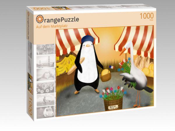 """Puzzle Motiv """"Auf dem Marktplatz"""" - Puzzle-Schachtel zu 1000 Teile Puzzle"""
