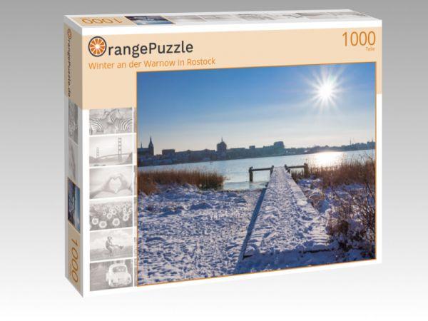 """Puzzle Motiv """"Winter an der Warnow in Rostock"""" - Puzzle-Schachtel zu 1000 Teile Puzzle"""