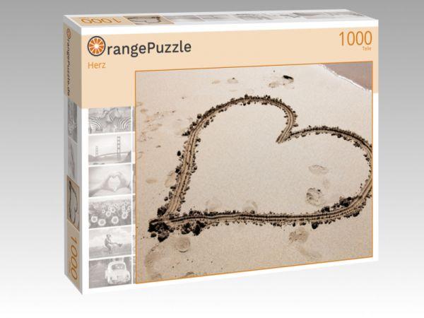 "Puzzle Motiv ""Herz"" - Puzzle-Schachtel zu 1000 Teile Puzzle"