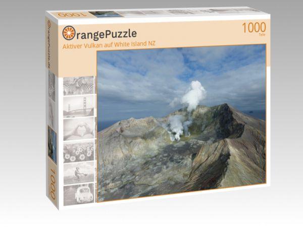 """Puzzle Motiv """"Aktiver Vulkan auf White Island NZ"""" - Puzzle-Schachtel zu 1000 Teile Puzzle"""