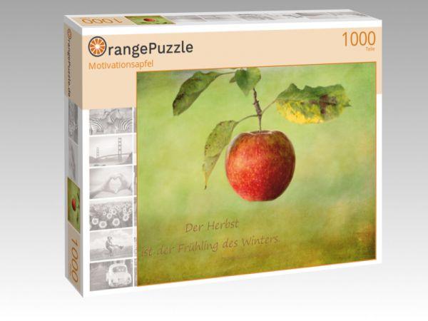 """Puzzle Motiv """"Motivationsapfel"""" - Puzzle-Schachtel zu 1000 Teile Puzzle"""