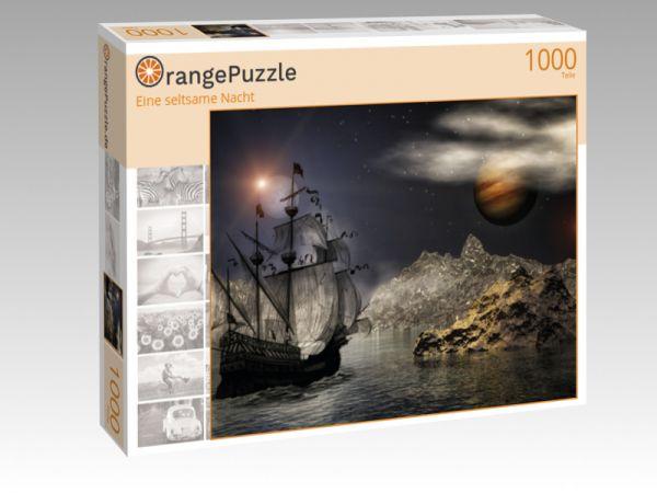 """Puzzle Motiv """"Eine seltsame Nacht"""" - Puzzle-Schachtel zu 1000 Teile Puzzle"""
