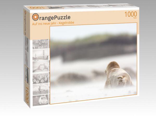 """Puzzle Motiv """"Auf ins neue Jahr - Kegelrobbe"""" - Puzzle-Schachtel zu 1000 Teile Puzzle"""