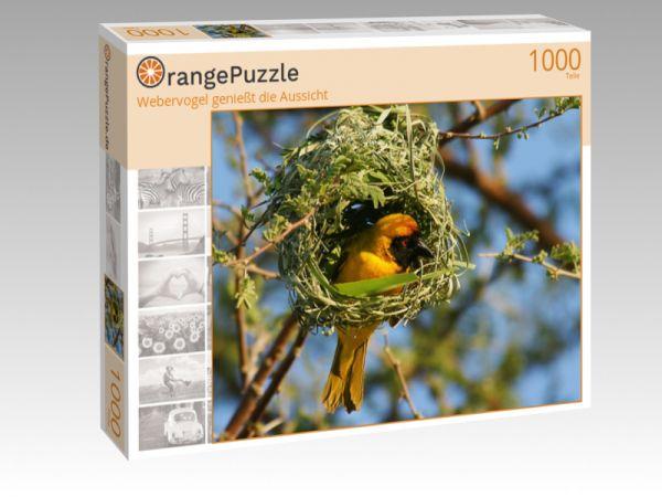 """Puzzle Motiv """"Webervogel genießt die Aussicht"""" - Puzzle-Schachtel zu 1000 Teile Puzzle"""