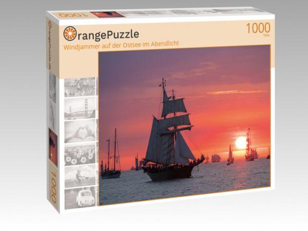 """Puzzle Motiv """"Windjammer auf der Ostsee im Abendlicht"""" - Puzzle-Schachtel zu 1000 Teile Puzzle"""