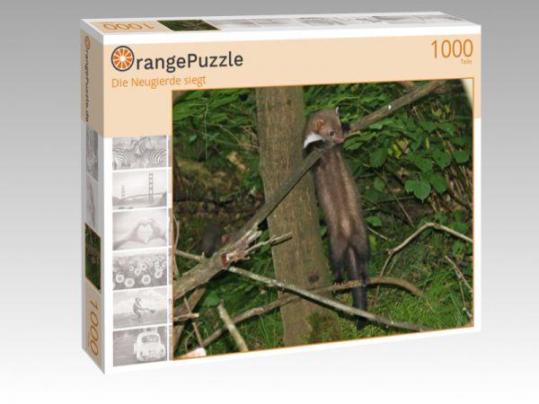 """Puzzle Motiv """"Die Neugierde siegt"""" - Puzzle-Schachtel zu 1000 Teile Puzzle"""