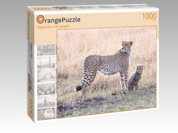 "Puzzle Motiv ""Gepardin mit Junges"" - Puzzle-Schachtel zu 1000 Teile Puzzle"