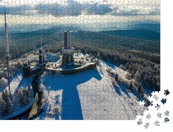 """Puzzle-Motiv """"Luftaufnahme"""" - Puzzle-Schachtel zu 1000 Teile Puzzle"""