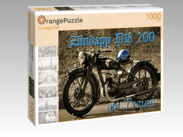 """Puzzle Motiv """"Zündapp DB"""" - Puzzle-Schachtel zu 1000 Teile Puzzle"""