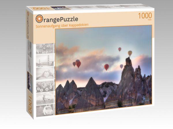 "Puzzle Motiv ""Sonnenaufgang über Kappadokien"" - Puzzle-Schachtel zu 1000 Teile Puzzle"