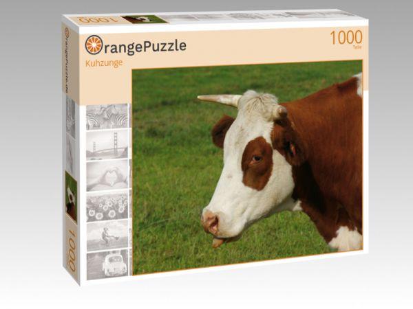 """Puzzle Motiv """"Kuhzunge"""" - Puzzle-Schachtel zu 1000 Teile Puzzle"""