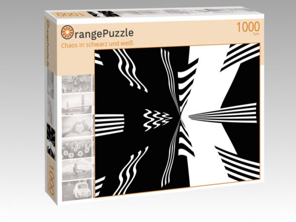 """Puzzle Motiv """"Chaos in schwarz und weiß"""" - Puzzle-Schachtel zu 1000 Teile Puzzle"""
