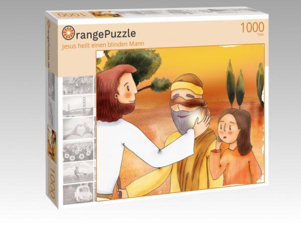 """Puzzle Motiv """"Jesus heilt einen blinden Mann"""" - Puzzle-Schachtel zu 1000 Teile Puzzle"""