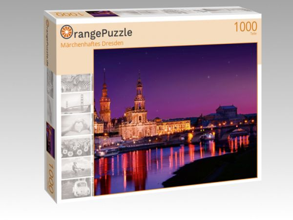 "Puzzle Motiv ""Märchenhaftes Dresden"" - Puzzle-Schachtel zu 1000 Teile Puzzle"