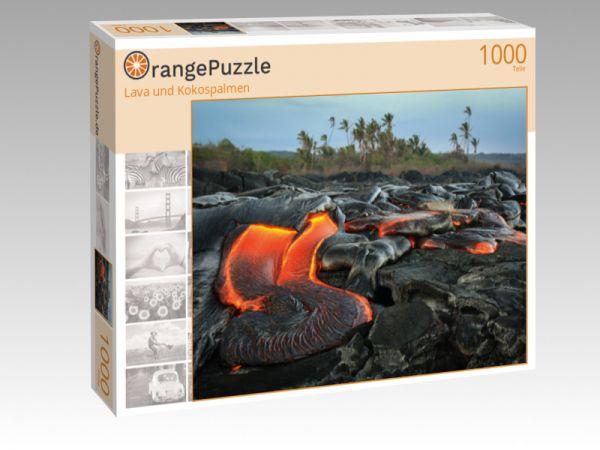"""Puzzle Motiv """"Lava und Kokospalmen"""" - Puzzle-Schachtel zu 1000 Teile Puzzle"""