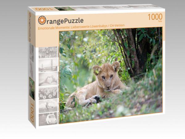 """Puzzle Motiv """"Emotionale Momente: Liebenswerte Löwenbabys / CH-Version"""" - Puzzle-Schachtel zu 1000 Teile Puzzle"""