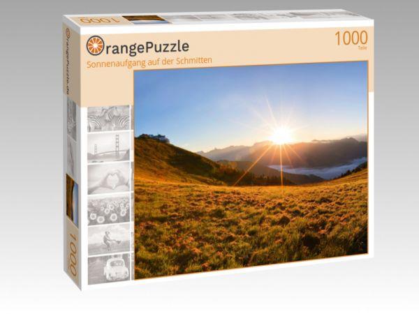 """Puzzle Motiv """"Sonnenaufgang auf der Schmitten"""" - Puzzle-Schachtel zu 1000 Teile Puzzle"""