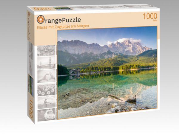 """Puzzle Motiv """"Eibsee mit Zugspitze am Morgen"""" - Puzzle-Schachtel zu 1000 Teile Puzzle"""