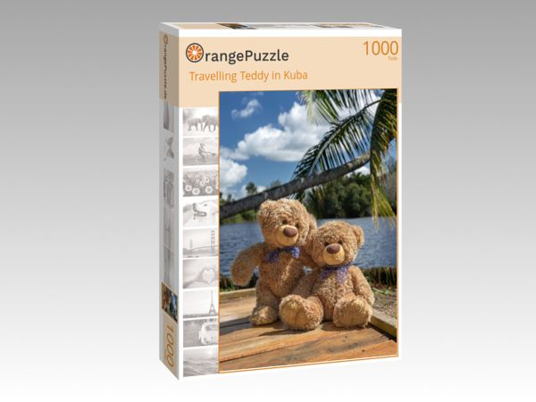 "Puzzle Motiv ""Travelling Teddy in Kuba"" - Puzzle-Schachtel zu 1000 Teile Puzzle"