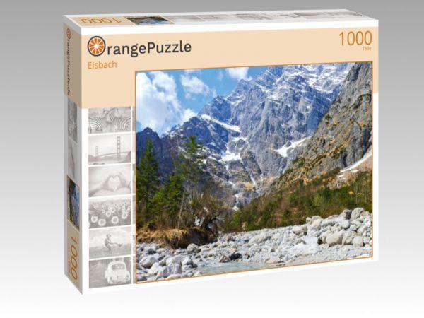 """Puzzle Motiv """"Eisbach"""" - Puzzle-Schachtel zu 1000 Teile Puzzle"""