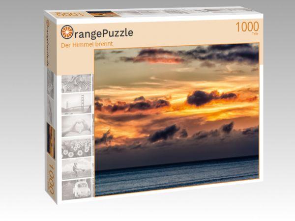 """Puzzle Motiv """"Der Himmel brennt"""" - Puzzle-Schachtel zu 1000 Teile Puzzle"""