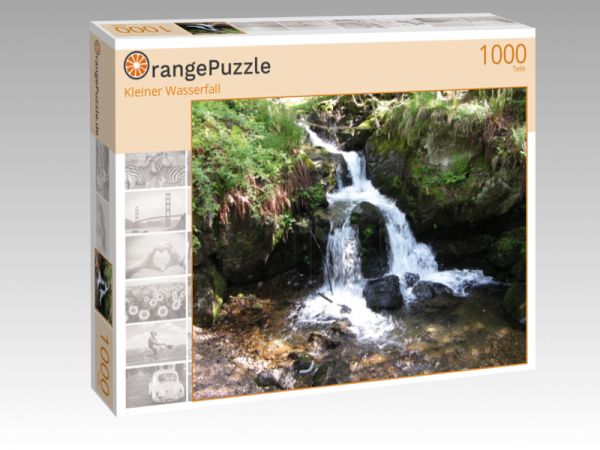 """Puzzle Motiv """"Kleiner Wasserfall"""" - Puzzle-Schachtel zu 1000 Teile Puzzle"""