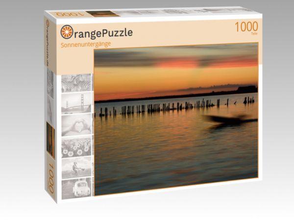 """Puzzle Motiv """"Sonnenuntergänge"""" - Puzzle-Schachtel zu 1000 Teile Puzzle"""
