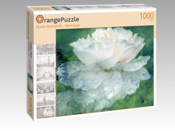 "Puzzle Motiv ""Rosen Romantik - Vertrauen"" - Puzzle-Schachtel zu 1000 Teile Puzzle"