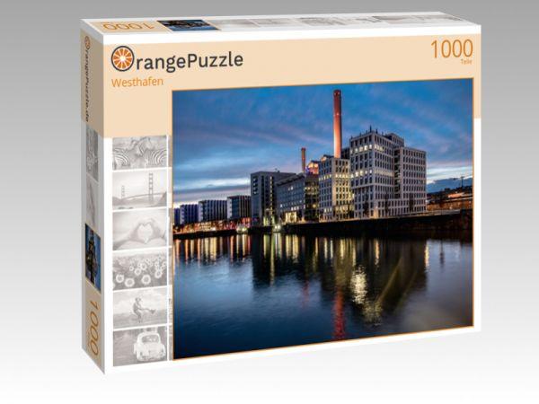 """Puzzle Motiv """"Westhafen"""" - Puzzle-Schachtel zu 1000 Teile Puzzle"""