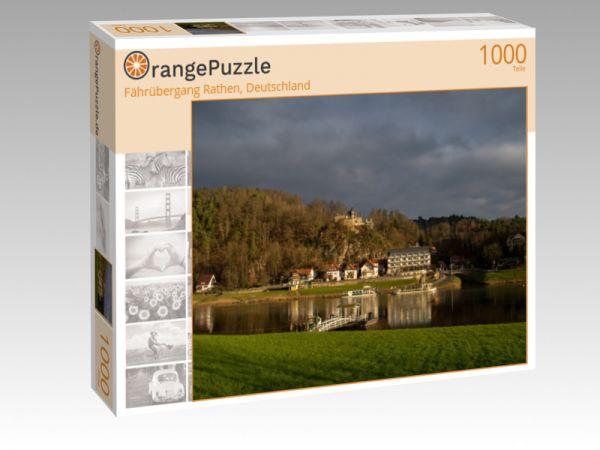 """Puzzle Motiv """"Fährübergang Rathen, Deutschland"""" - Puzzle-Schachtel zu 1000 Teile Puzzle"""