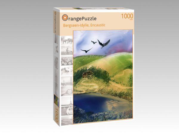 """Puzzle Motiv """"Bergseen-Idylle, Encaustic"""" - Puzzle-Schachtel zu 1000 Teile Puzzle"""
