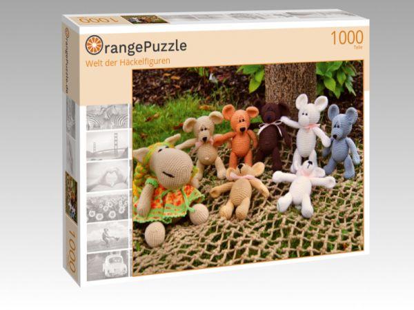 """Puzzle Motiv """"Welt der Häckelfiguren"""" - Puzzle-Schachtel zu 1000 Teile Puzzle"""