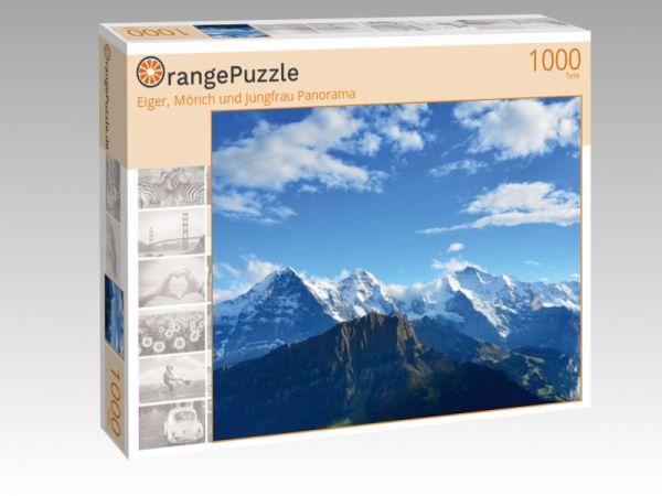 """Puzzle Motiv """"Eiger, Mönch und Jungfrau Panorama"""" - Puzzle-Schachtel zu 1000 Teile Puzzle"""