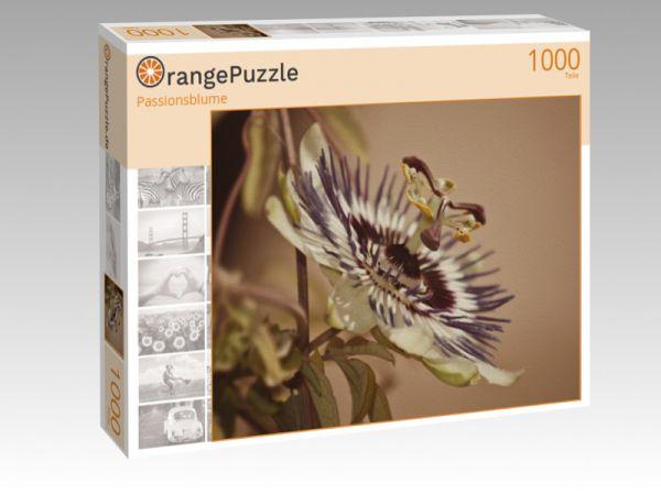 """Puzzle Motiv """"Passionsblume"""" - Puzzle-Schachtel zu 1000 Teile Puzzle"""