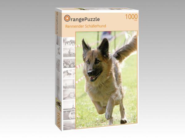 """Puzzle Motiv """"Rennender Schäferhund"""" - Puzzle-Schachtel zu 1000 Teile Puzzle"""